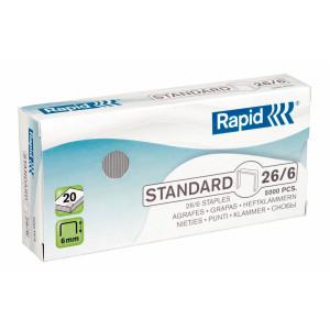 Häftklammer Rapid 26/6 standard 5000st