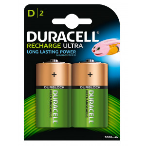 Batteri HR20 Laddningsbara 2200mAh 2-pack Duracell
