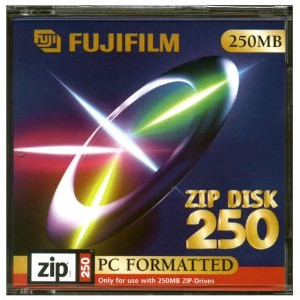 Fujifilm 250MB PC Formatted Zip Disk (1-Pack).