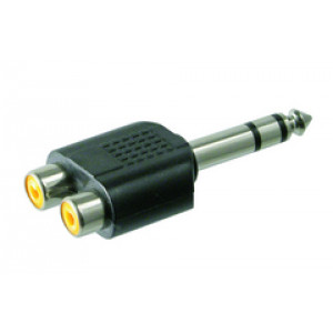 Audioadapter 6.3mm - RCA x 2 (ha-ho)