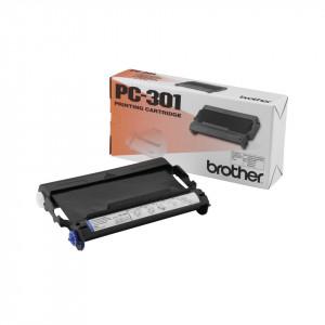 Brother PC-301 Fax cartridge + ribbon 235sidor Svart 1styck förbrukningsvara till telefax