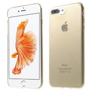 Skal - iPhone 7 Plus - Silikonskal Guld