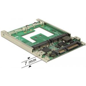 """HDD-adapter mSATA, mSATA till SATA 22-pin, tar 1x2,5"""" plats, 7mm höjd Praktisk mSATA"""
