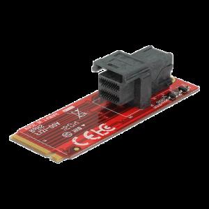 HDD-adapter 1 x M.2 M fattning hane, 1x SFF-8643 hona, formfaktor 2260