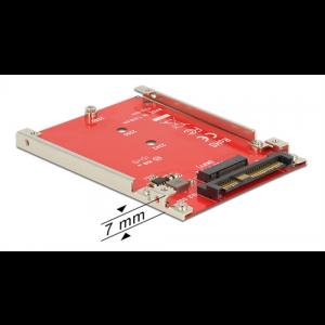 HDD-adapter 1 x M.2 SATA till 1 x U.2 SFF-8639 NVMe, 7mm höjd