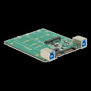 HDD-adapter SATA / USB 3.1 till 1 x M.2 SATA eller 1 x mSATA, USB 3.1 gen 2