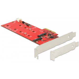 HDD-adapter PCI-Express x4 2.0 till 2 x M.2 SATA