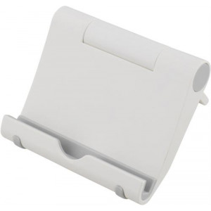 DELTACO foldable pad stand, White plastic