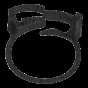 Kabelklämma återanvändningsbar 6-pack svart