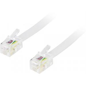 Modularkabel RJ11/RJ10/RJ9 4-pin 4P4C 10m