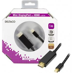Kabel Mini DisplayPort - HDMI med ljud 1m GOLD