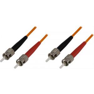 DELTACO fiberkablage ST - ST, duplex, 62,5/125, multimode 1m