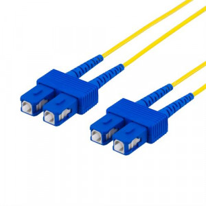 DELTACO fiberkablage SC - SC, duplex, singlemode OS2, 15m