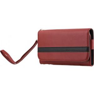 """STREETZ plånboksfodral för 4-5,1""""-smartphones, röd IP6-933"""