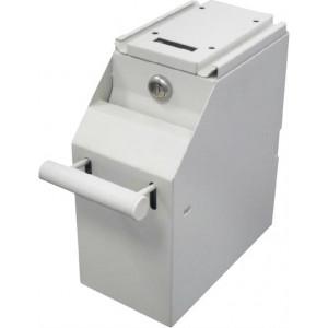 Depositionsbox för sedlar, 4 nycklar, beslag för upphängning, beige