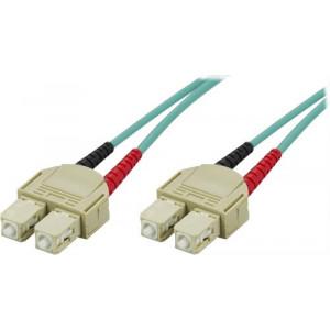 DELTACO OM3 fiberkabel SC - SC, duplex, multimode, 50/125, 10m