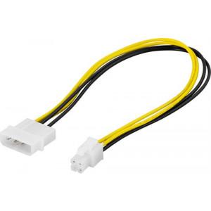 Adapter Ström 4-pin molex - 4-pin ATX12V 30cm