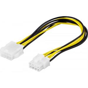 Adapter Ström 8-pin - 8-pin ha-ho (Förlängning)