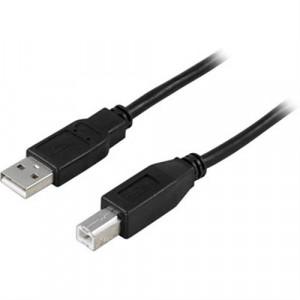 Kabel USB 2.0 A ha - B ha  (5m) svart