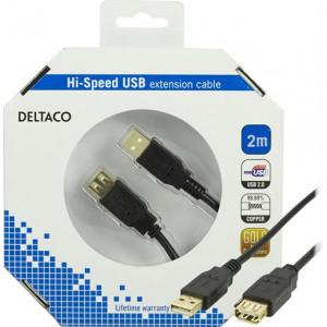 USB förlängning (2m) GOLD
