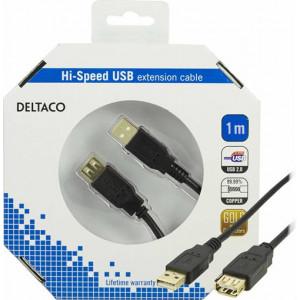 USB förlängning (1m) GOLD