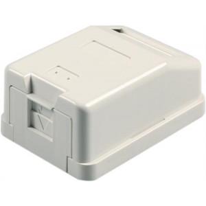 Vägguttag, utanpåliggande, 1-port, utan kontaktdon VR-110