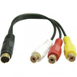 Adapter Svideo 9-pin - RCA x 3 (ha-ho)