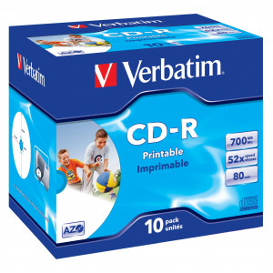 Verbatim CD-R AZO Wide Inkjet Printable CD-R 700MB 10styck