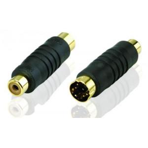 Adapter Svideo 4-pin - RCA (ha-ho) Signalförstärka