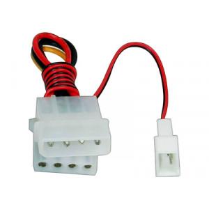 Adapter ström 3-pin - 4-pin molex x 2 för fläktar
