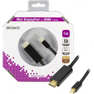 Kabel Mini DisplayPort - HDMI med ljud 1m GOLD