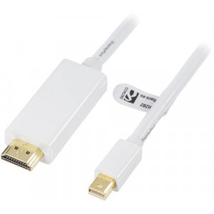 Kabel Mini DisplayPort - HDMI med ljud (ha-ha) 2m