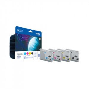 Brother LC-970 Value Pack Svart, Gul bläckpatroner