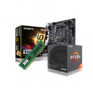 Uppgraderingspaket - AMD AM4 Ryzen 3 + MK + 8GB net2world