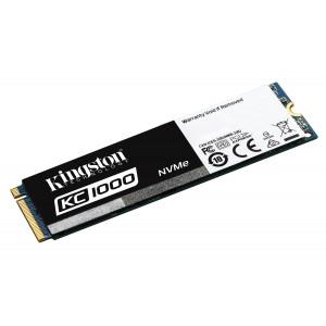 SSD M2 Kingston Technology KC1000 NVMe PCIe SSD 480GB, M.2 480GB M.2 PCI Express 3.0