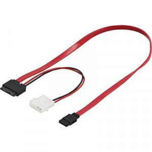 Kabel SATA Slim + SATA-ström (0.5m) för Slim DVD
