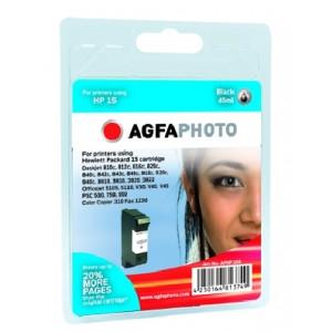 HP 15 Black (AgfaPhoto) + 40% C6615DE.
