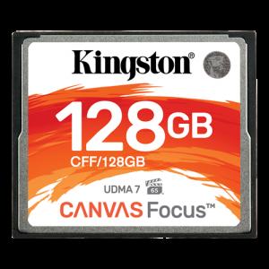 Kingston 128GB CompactFlash Canvas Focus up to 150R/130W UDMA7 VPG-65