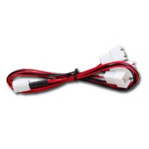 Adapter Ström 3-pin - 3-pin x 3 för fläkt*