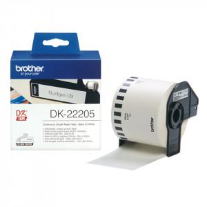 Brother DK-22205 Svart på vitt DK etikett-tejp