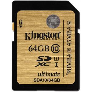 SDXC 64GB Class10 - Kingston UHS-I Ultimate 90Mb/s