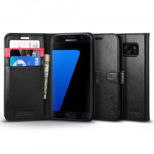 Fodral Spigen Galaxy S7 Case Wallet S Black