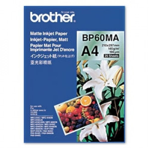 Brother BP60MA Inkjet Paper A4 (210×297 mm) matt Vit datapapper