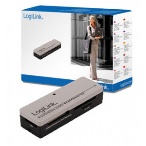 Minneskortläsare extern USB2.0 SD/MicroSD/MS