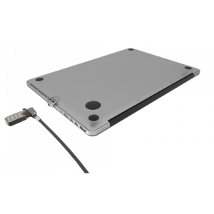 Ledge MacBook Air Lock - Security T-Bar Lock Slot adapter with Combin
