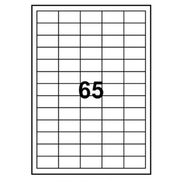 Etiketter 38.1x21.2mm 100ark/fp (6500st) 5010097
