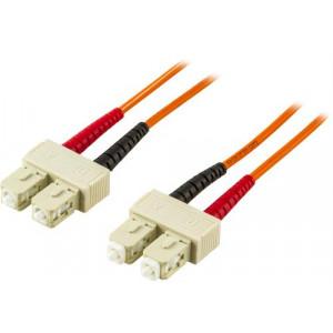 DELTACO fiberkablage SC - SC 50/125 duplex multimode, 1,5m