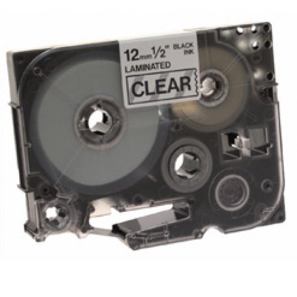 Brother Tape TZE-131 - 12mm svart text tranparent