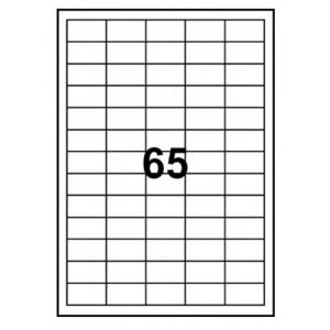 Etiketter A4  38.1x21.2mm 100 A4 x 65st (6500st)