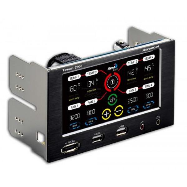 Aerocool Touch 2000 - Kontrollpanel Touch.